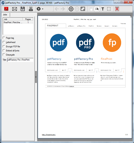pdfFactory Pro (x64) full screenshot